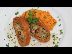 Champignon-Rollbraten mit Süßkartoffelpüree und Sesamsauce | TierheimTV kocht vegan - YouTube