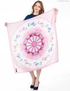 Silk scarf Carousel