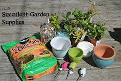 Succulent Garden Supplies #DIHWorkshop