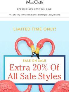 f5193e9d625095 Modcloth  It s a sale on a sale. Take an extra off!