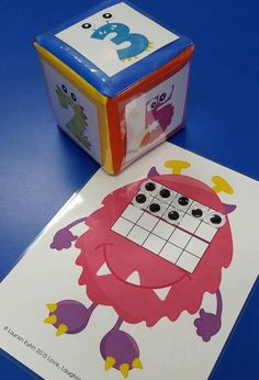 When I saw this linky (hosted by Mrs. Wills Kindergarten) I knew it was one I just had to join in with! Hands on activities instead of . Preschool Math, Kindergarten Math, Teaching Math, Theme Halloween, Halloween Math, Fall Halloween, Monster Activities, Preschool Activities, Monster Classroom