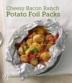 This super-simple foil pack cheesy potatoes recipe is sure to be your new go-to potato side for everything from weeknight dinners to backyard bashes. And since it works in both the oven and on the grill, you can enjoy this dish any time of the year!