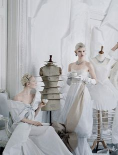 """dethronedprince:  Maja Salamon & Ola Rudnicka in """"CharlesJames the one and only"""" by Tim Walker for Vogue USmay 2014."""
