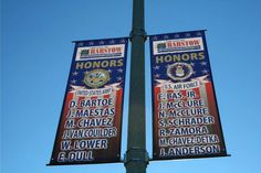 Current military members are honored as part of the #Barstow, #California military banner program.  #FilmBarstow www.FilmBarstow.com
