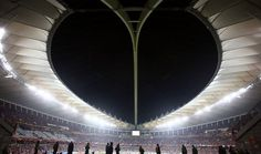 A view from the inside of Moses Mabhida Stadium, Durban, South Africa.