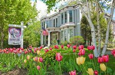 Spring garden ~ Inns At Blackberry Common in Camden, Maine | Bed & Breakfast Rental