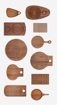 Scandinavian collection of eleven boards, c.