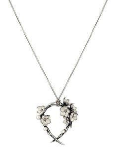 Shaun Leane Cherry Blossom Hoop Pendant Necklace - Uzerai - farfetch.com