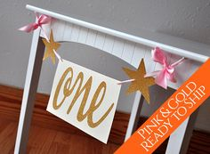 Ready To Ship  Pink and Gold Birthday Party by courtneyorillion