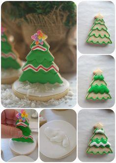 Pink Little Cake: Last Minute Inspiration-Chritsmas Tree Cookies