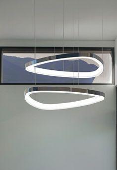 pendant light triangle design with inner LEDs | lighting . Beleuchtung . luminaires | Design: Sattler |