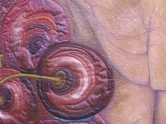"""Detail from """"Temptation"""" wall quilt by   Laura & Linda Kemshall.  Beautiful."""