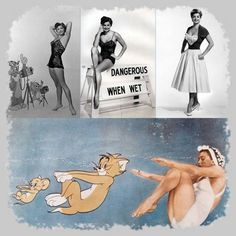 Esther Williams with Tom & Jerry Dangerous When Wet (1953)