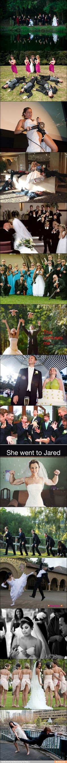 """Amazing wedding pics / iFunny :) Well... for me this is """"what not to do on wedding pics""""."""