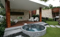 Pool house open design