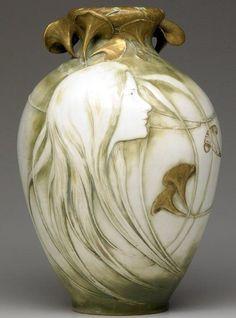 Image result for amphora pottery art nouveau Alfred Stellmacher