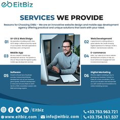 We are an innovative website design and mobile app development agency offering practical and unique solutions that work with your need. Contact Us for your. If you are ready to move ahead, contact us today at +33-753-963-721, for a free consultation. Application Development, Mobile Application, Software Development, Mobile Web Design, App Design, Custom Website Design, Ecommerce Solutions, Good Communication, Digital Marketing Services