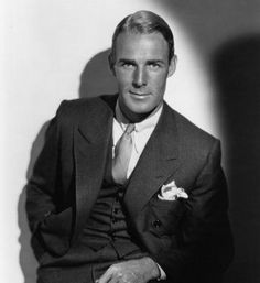 Bet you never saw Randolph Scott without a cowboy hat ... he's just as handsome in a suit.