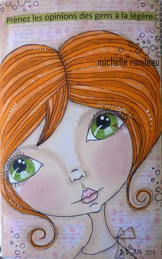 Art journal doll face