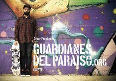 """Anuncio de campaña Teaser """"Guardianes del Paraíso"""". Cesar Fernández, skater #turismoactivo #skate #ParaísoNatural"""