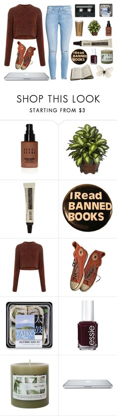 """flowers in her hair."" by quiescentsoul ❤ liked on Polyvore featuring CASSETTE, Bobbi Brown Cosmetics, Nearly Natural, Aesop, TIBI, Converse, Essie and H&M"