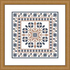 Composition of various ornaments and borders Cross stitch