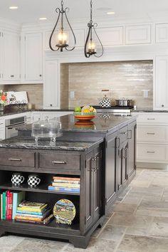 Antiqued ivory beige color travertine tile for kitchen backsplash projects. Beige Kitchen, Kitchen Redo, Kitchen Flooring, Kitchen Backsplash, Kitchen Countertops, Kitchen Design, Travertine Tile Backsplash, Travertine Floors, Black Granite Countertops
