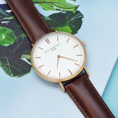 Surprise her with a personalised Ellie Beaumont watch with brown leather wrist strap. Engraved on the reverse with a personalised message, this is a gift that will stand the test of time. The 38mm dial with rose gold colouring comes presented in a brown leather protective pouch and luxury gift box. The perfect personalised birthday present, Valentines gift or Mothers Day gift idea.