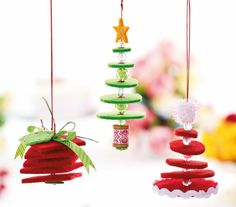 Hanging Felt Christmas Decorations - Free Craft Project – Stitching - Crafts Beautiful Magazine