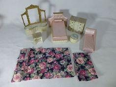 Ideal Petite Princess Dollhouse Fantasy Furniture Bedroom Vintage 1960's  #IdealPetitePrincess
