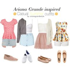 Ariana Grande Inspired Summer Outfits by arianagrandestyle (dresslikearianaa on polyvore)