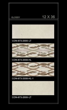 CON_673_2008 - Millennium Tiles 300x900mm (12x36) Digital OCT Glossy Wall #CeramicTiles  - CON_673_2000_LT - CON_673_2008_HL - CON_673_2008_HL1 - CON_673_2000_LT  - Vitrified tiles is made by hydraulic pressing a mixture of clay, quartz, feldspar and silica, which make vitreous surface. - Digital #Tiles: Digital tiles will have a single coat of pigment nearly 1or 2 mm. It is not suitable for heavy traffic.As the name suggests, any design can be printed on this types of tiles or U can even…