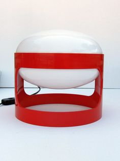 Joe Colombo for Kartell Red KD27 table or desk lamp by decirculo,