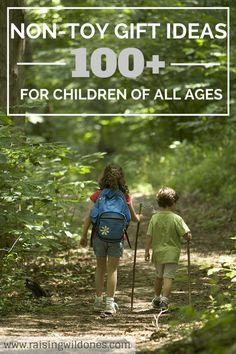 A compilation of well over 100 non-toy gift ideas for children of all ages from babies to teenagers - from experience days to