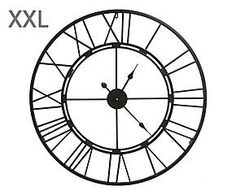 Grande horloge murale cadre ferronnerie fer metal for Grosse pendule murale design