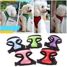 9 colors Adjustable Soft Breathable Dog Harness Nylon Mesh Vest Harness for Dogs Pets Collar Pets Chest Strap Leash Accessories #Affiliate