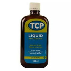 TCP antiseptic liquid - Ouch! My childhood seemed to smell of TCP as I was always grazing knees and elbows :)
