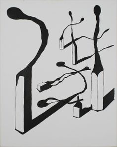 """""""Bosque de cerillas"""" Acrílico 92 x 73 cm 125 €"""