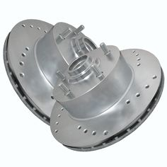 ATL Autosports Performance Brake Rotors Front Pair Fits 2002 Ford Explorer Sport Trac ATL54096-06DO, Silver