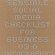 Sensible Social Media Checklist for Business v3.0 [INFOGRAPHIC]