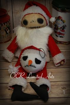 Reserved Jack Skellington big doll decor ooak cute Handmade Inspired The Nightmare before Christmas by OCRLimitedArts on Etsy