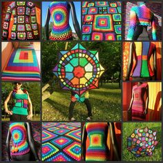 Granny Square by babukatorium, via Flickr. LOVE these. Colors abound!