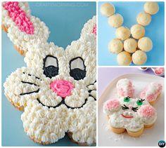 DIY τραβήξτε εκτός Bunny Cupcake κέικ