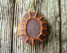 Crocheted Stone Stone Necklace Stone Jewelry River Rock
