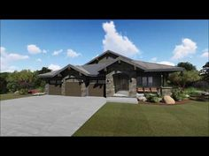 Plan Rugged Craftsman With Drop-Dead Gorgeous Views In Back Lake House Plans, Craftsman House Plans, Dream House Plans, House Floor Plans, Craftsman Ranch, Craftsman Homes, The Plan, How To Plan, Architectural Design House Plans