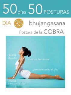 ૐ YOGA ૐ  Bhujangasana ૐ 50 días 50 posturas. Día 35. Postura de la Cobra.