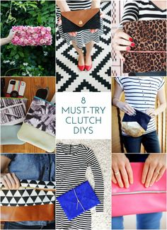 You don't have to be an expert sewer to be able to try these eight must-try clutch diys! Each project comes with detailed instructions.
