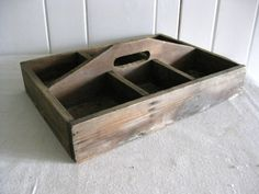 Vintage Carpenter's Box, Antique Wooden Tray With Handle, Wood Tool Box…