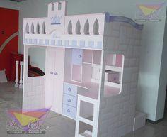 Cama alta para princesas (de camas y literas infantiles kids world)