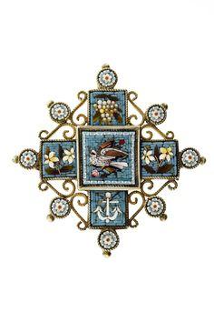 Mosaic Silver Pendant